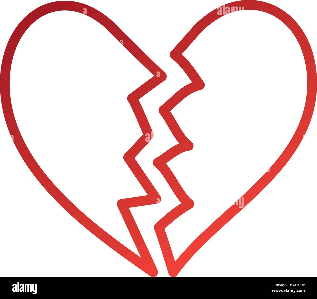 Broken heart icon divorce end of love symbol stock vector art broken heart icon divorce end of love symbol buycottarizona