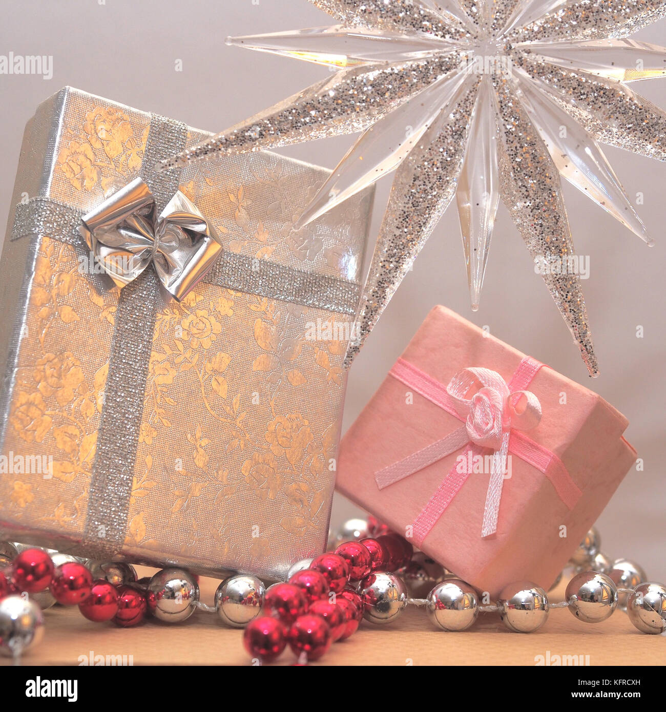 Photo of Christmas Gifts or Presents Wrapped - Gift Wrapped with Bow ...
