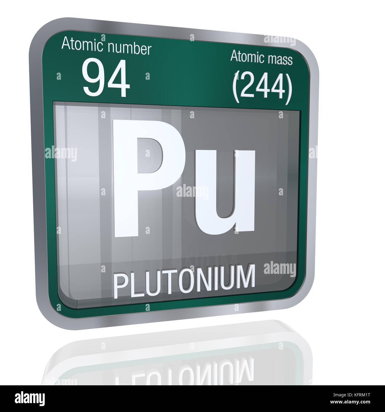 Plutonium symbol in square shape with metallic border and stock plutonium symbol in square shape with metallic border and transparent background with reflection on the floor 3d render element number 94 of the pe biocorpaavc Image collections