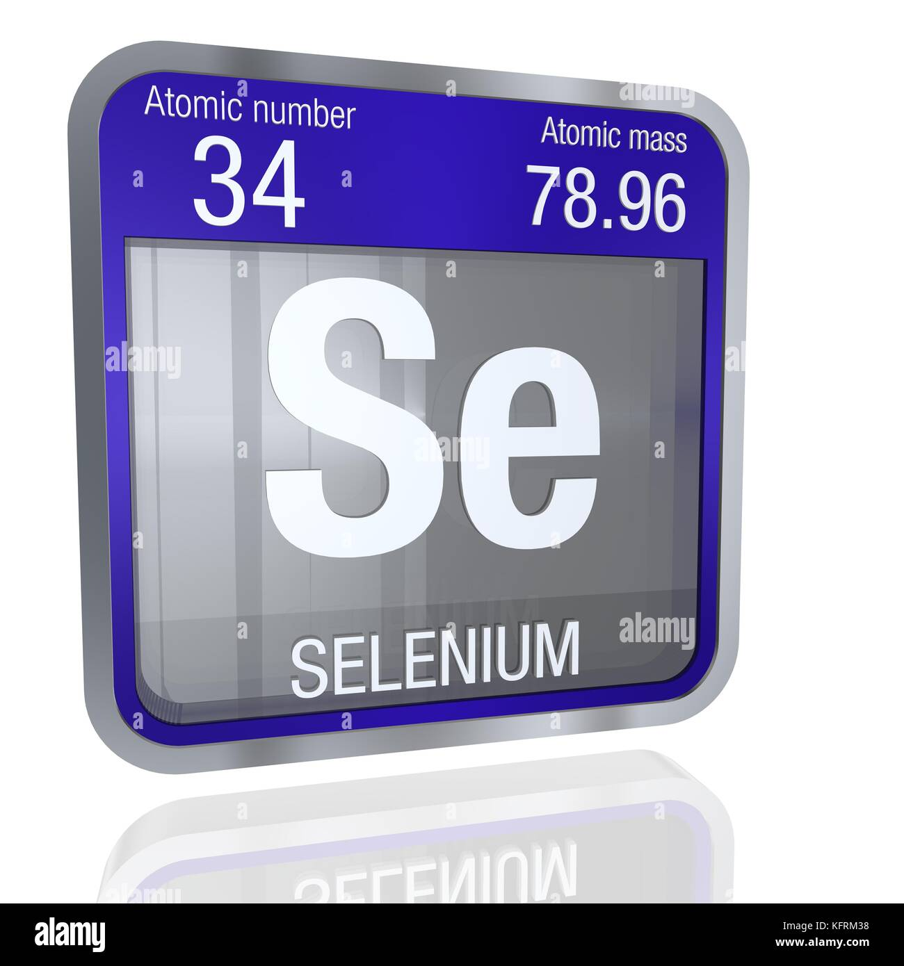 Selenium symbol in square shape with metallic border and selenium symbol in square shape with metallic border and transparent background with reflection on the floor 3d render element number 34 of the per buycottarizona