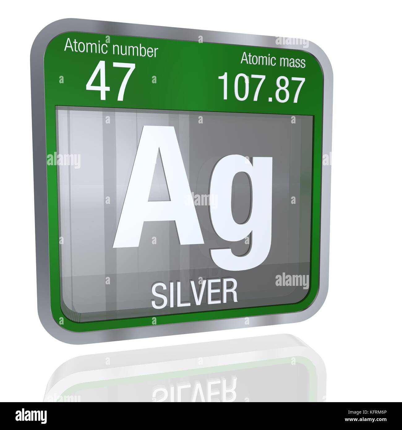 Silver symbol in square shape with metallic border and transparent silver symbol in square shape with metallic border and transparent background with reflection on the floor 3d render element number 47 of the perio buycottarizona