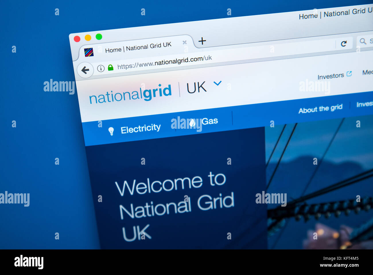 National grid uk stock photos national grid uk stock images alamy london uk october 17th 2017 the homepage of the official website for the biocorpaavc Image collections