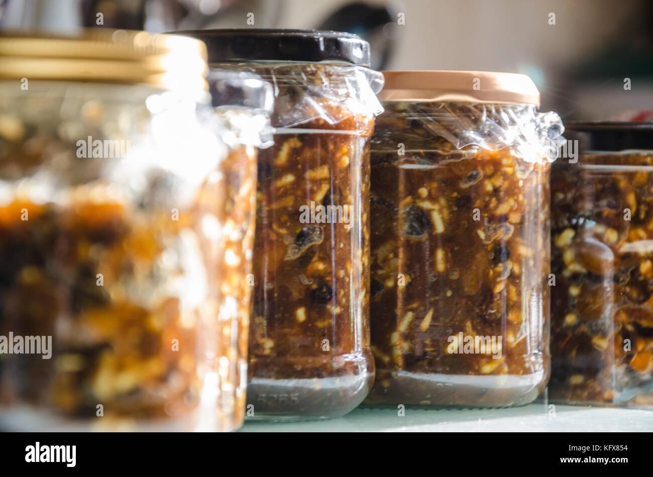 Jar Mincemeat Cake Recipe: Homemade Mincemeat Stock Photos & Homemade Mincemeat Stock