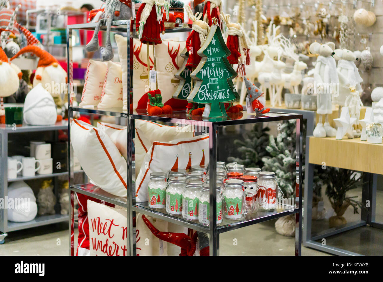 Christmas display the new Nordstrom Rack off-price store in the ...