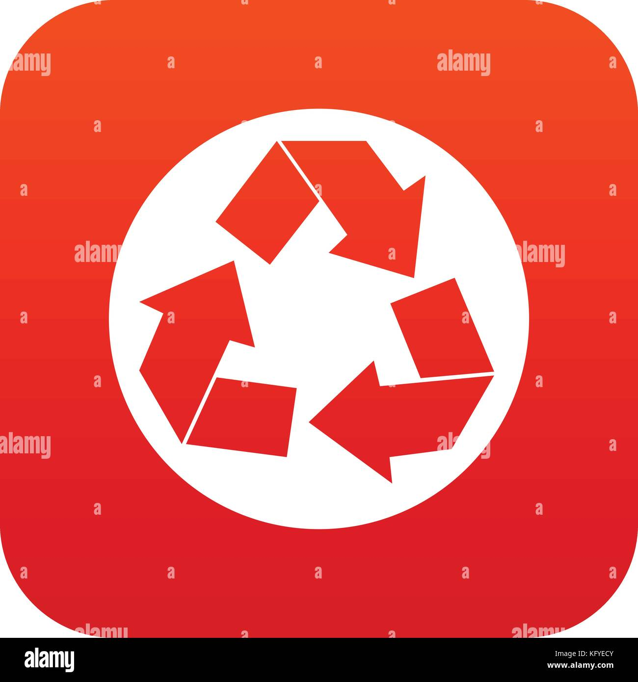 Recyclable symbol stock photos recyclable symbol stock images recycle sign icon digital red stock image buycottarizona Choice Image
