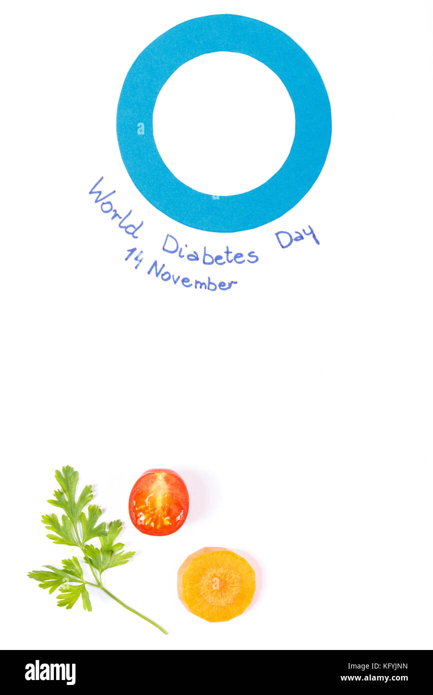 Fresh vegetables and blue circle as symbol of world diabetes day fresh vegetables and blue circle as symbol of world diabetes day concept of healthy nutrition copy space for text on white background biocorpaavc