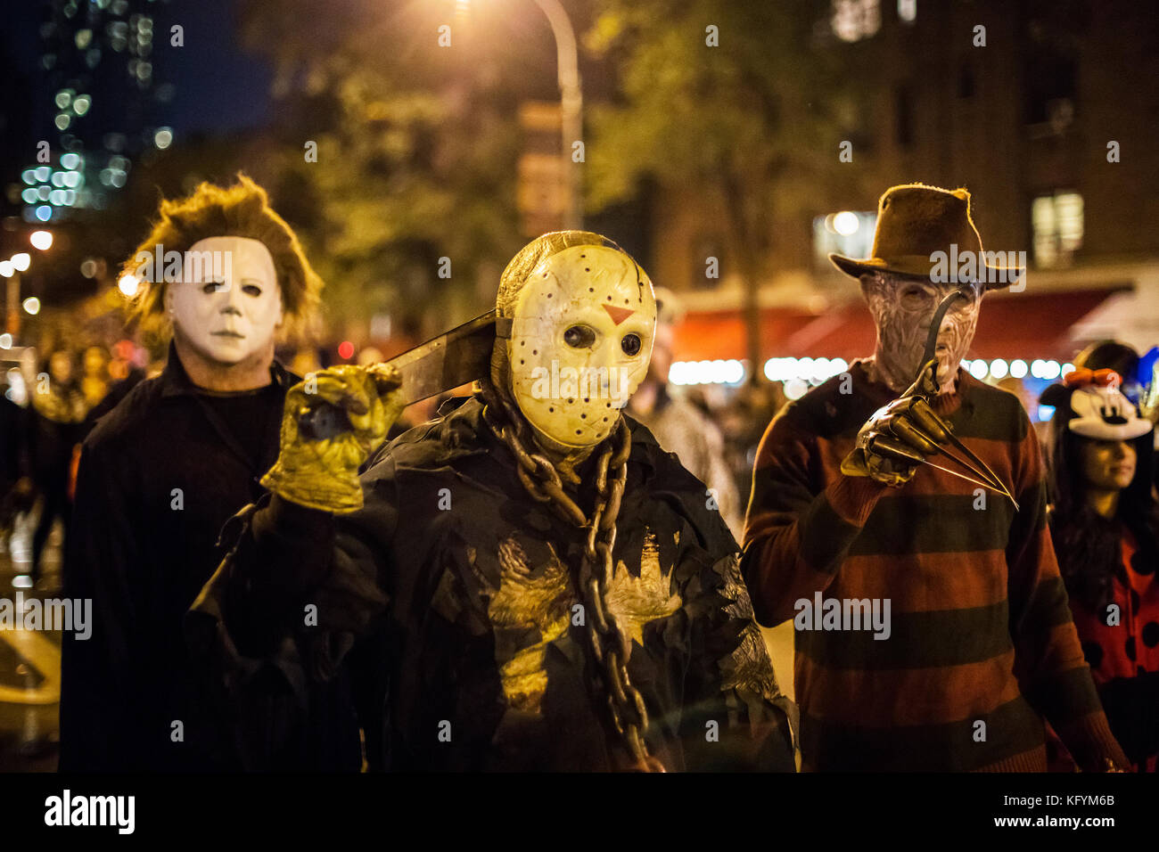 halloween costumes, michael myers, friday the 13, freddy krueger