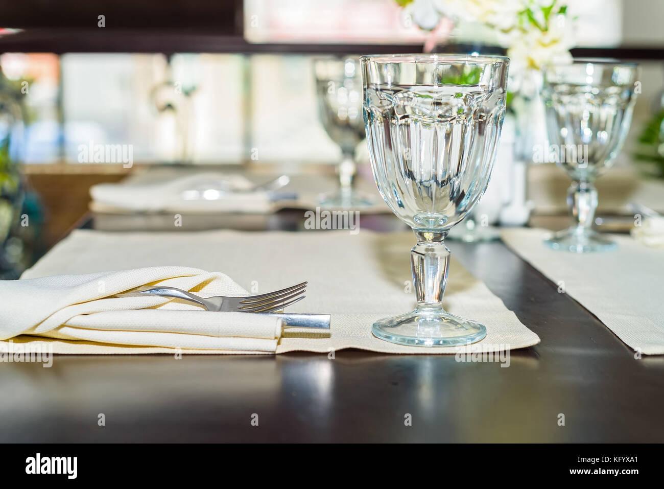 White Fine Table Setting Summer Stock Photos White Fine