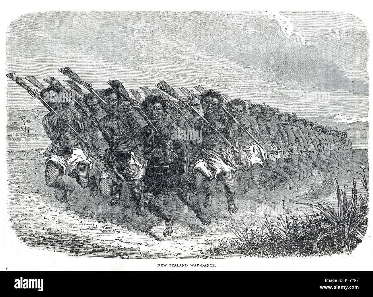 Haka, Maori war-dance, New Zealand Wars, 1845 to 1872