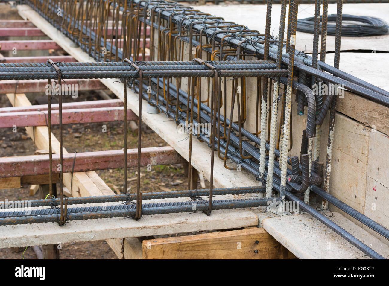 Steel Reinforcement Bars : Concrete reinforcing bar stock photos