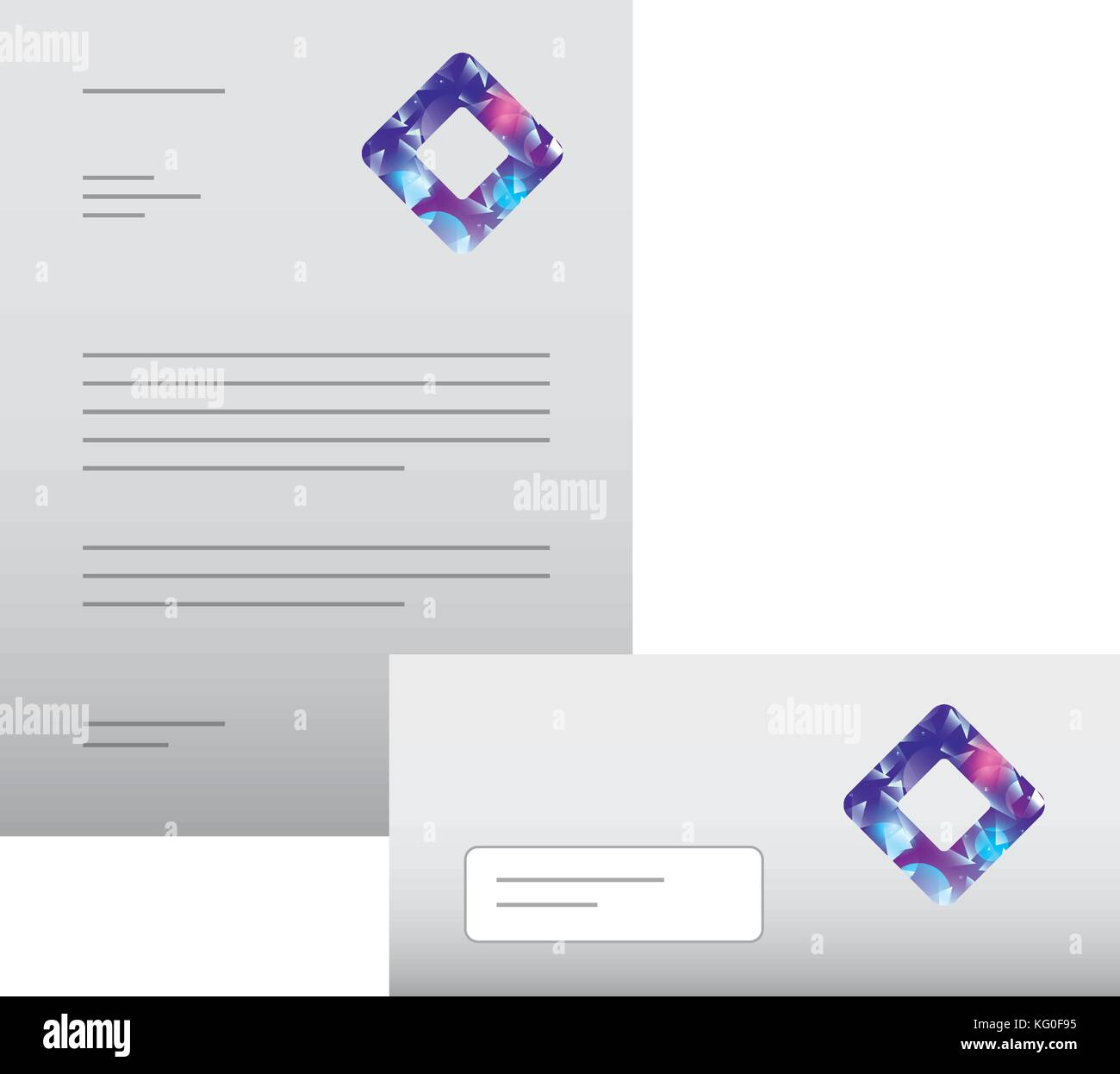 business letterhead envelope stationary branding template for stock