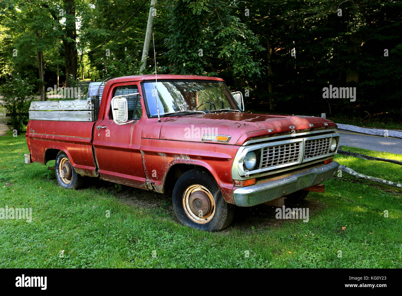 Old pick-up truck Long Island New York Stock Photo, Royalty Free ...