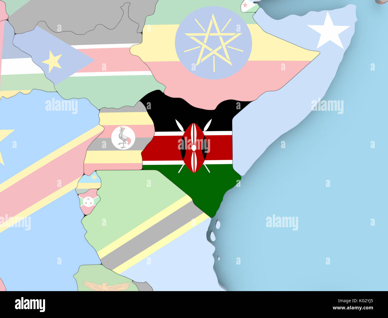 Africa Map Flag Madagascar Malagasy Stock Photos Africa Map Flag