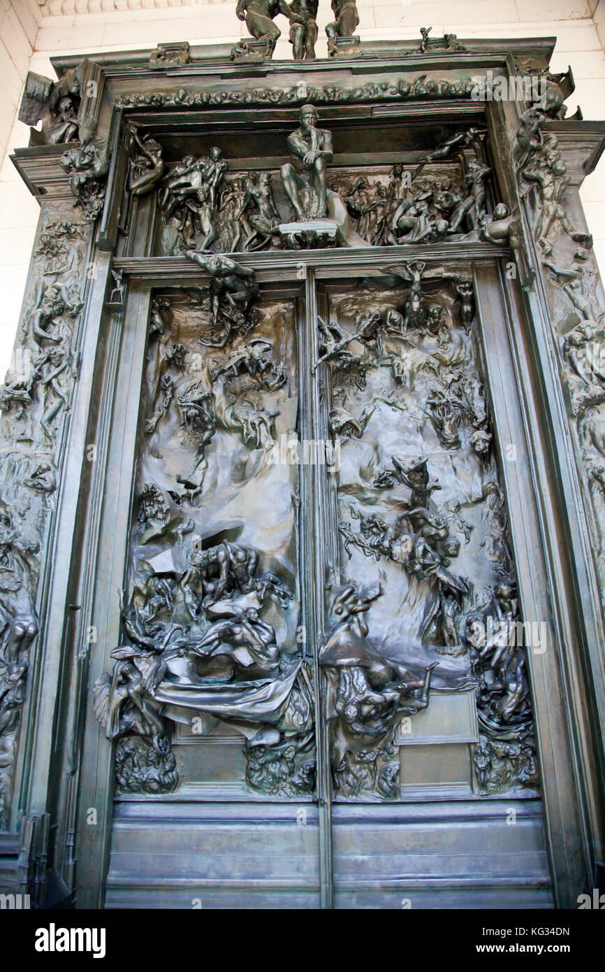 Rodinu0027s Gates of Hell Sculpted Doorway at Rodin Museum in Philadelphia - US - Stock Image & The Gates Of Hell Stock Photos u0026 The Gates Of Hell Stock Images ... pezcame.com