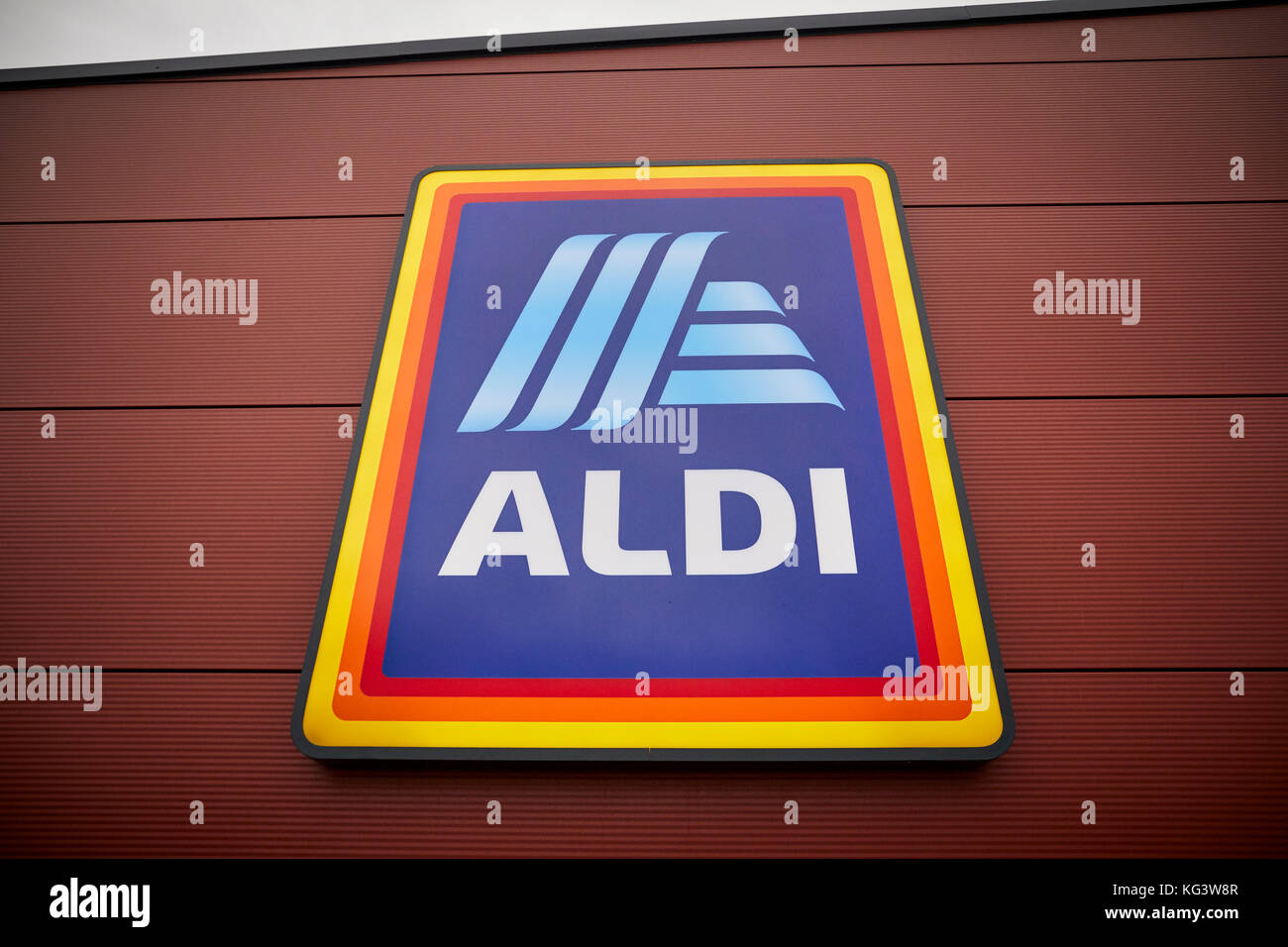 Aldi logo stock photos aldi logo stock images alamy new design aldi sd logo lightbox sign on the exterior of the german global discount supermarket biocorpaavc