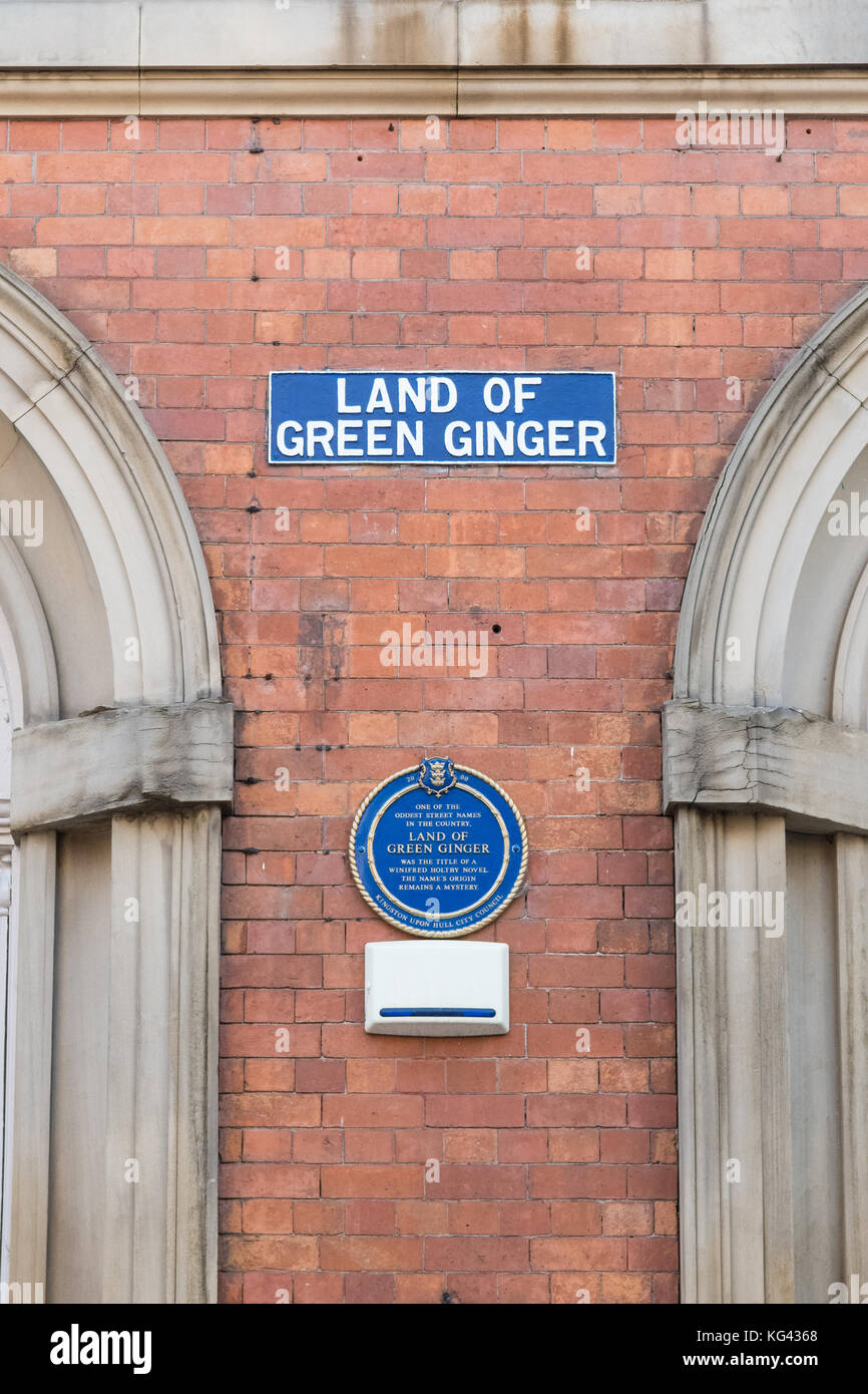 Unusual street names stock photos unusual street names stock land of green ginger street sign hull england uk stock image sciox Gallery