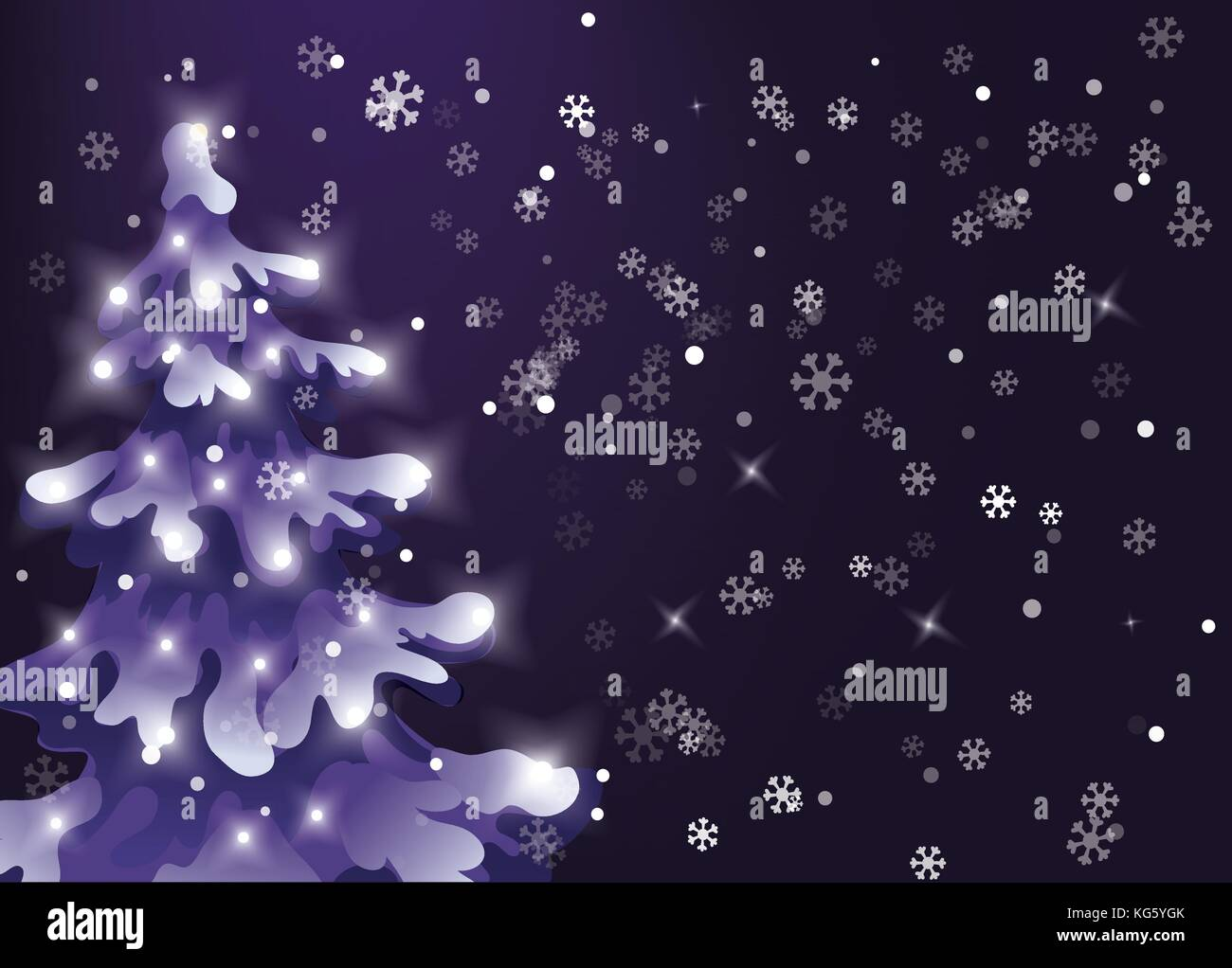 Christmas Night Stock Vector Images