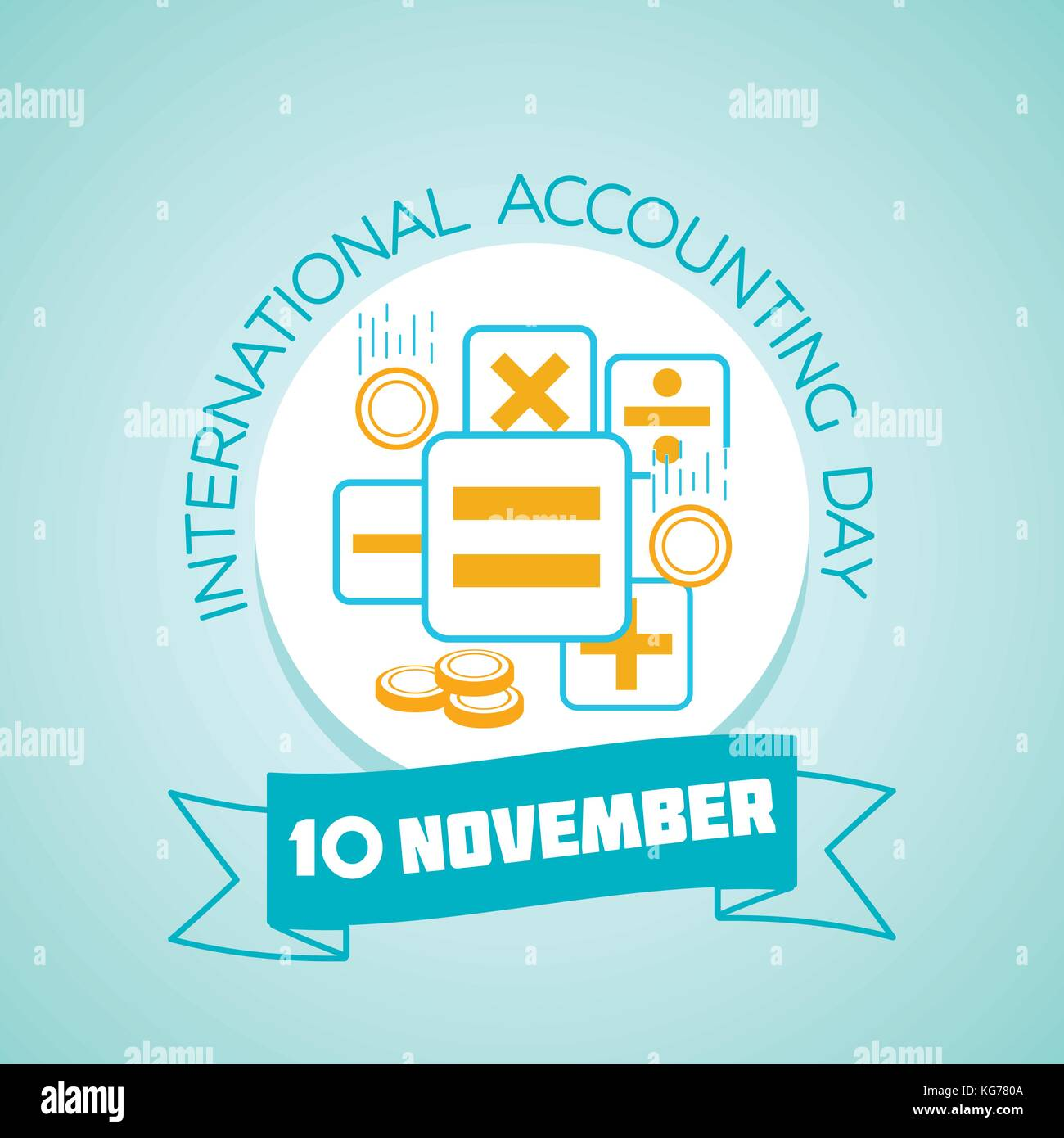 Calendar for each day on november 10 greeting card holiday stock calendar for each day on november 10 greeting card holiday international accounting day icon in the linear style kristyandbryce Images