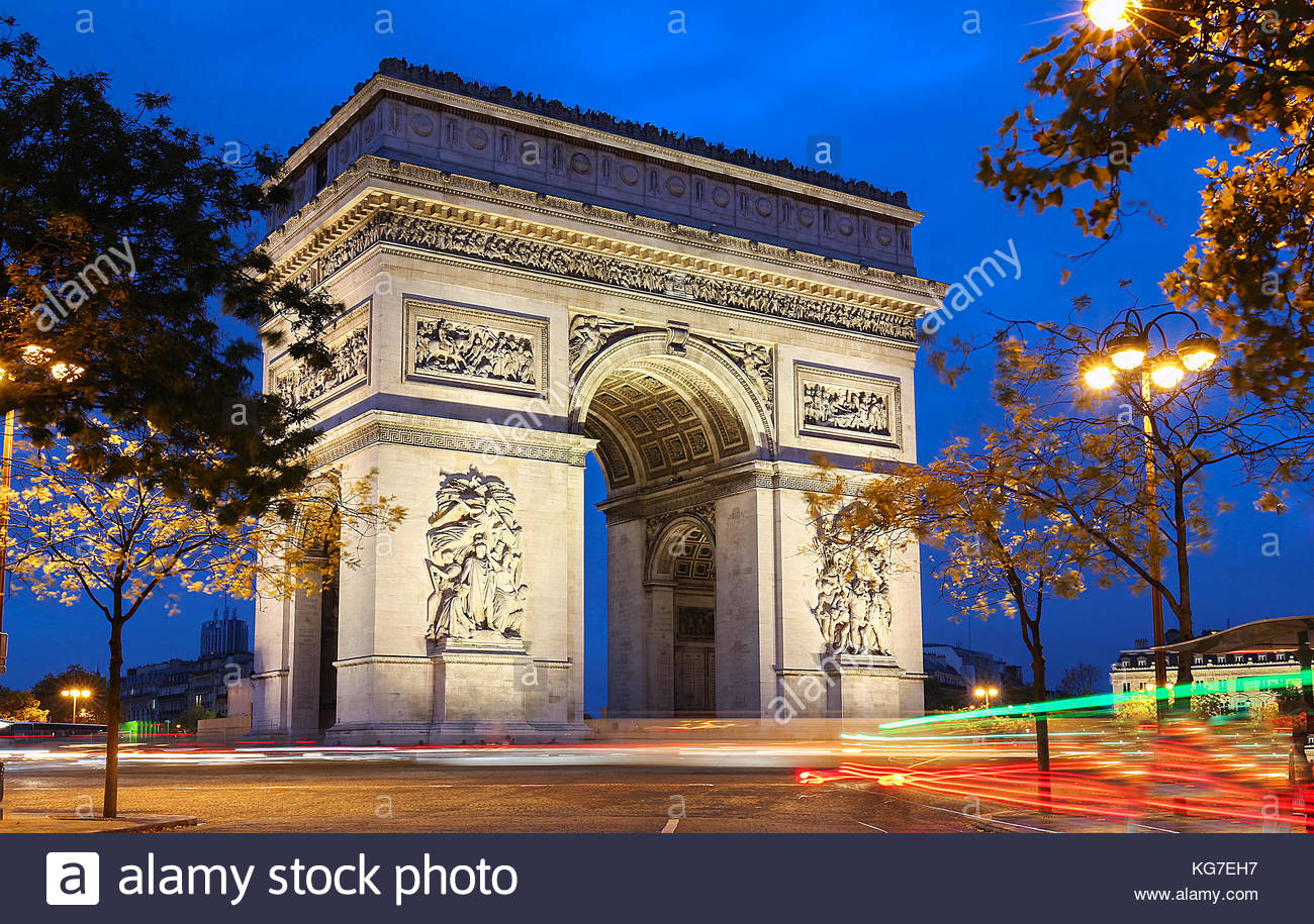 the triumphal arch is one of the most famous monuments in paris it