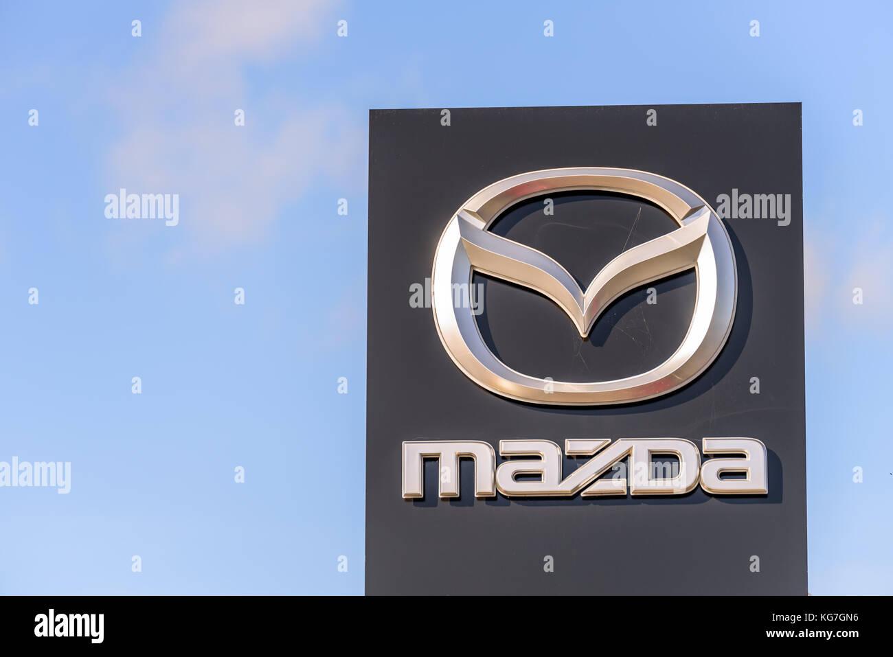Northampton Uk Oct 25 2017 Day View Of Mazda Logo At Riverside