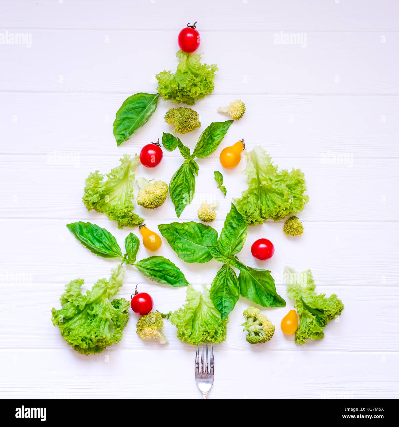 1a6eda3185 Healthy new year concept - Collection of fresh organic vegetables ...