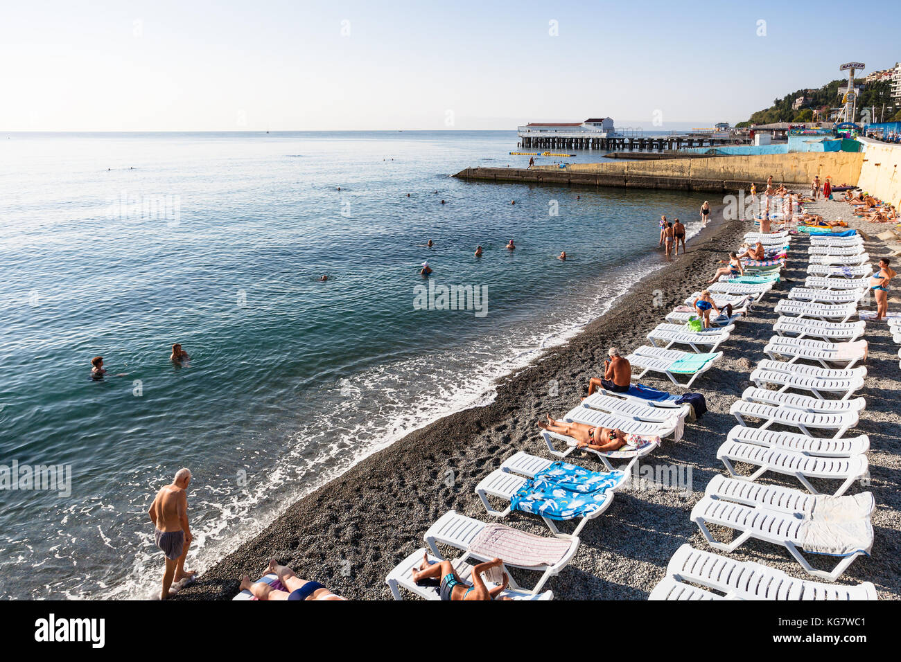 Southern coast of Crimea, Alushta. Beaches, vacation by the sea. Guest reviews. Alushta: Hotels with a private beach 38