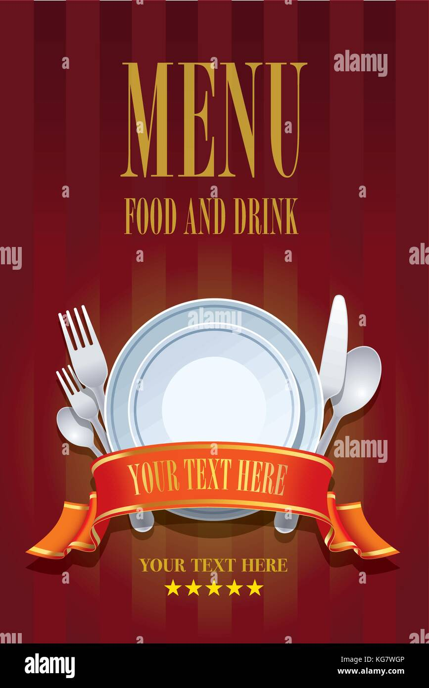 restaurant menu cover design. cover brochure design template for