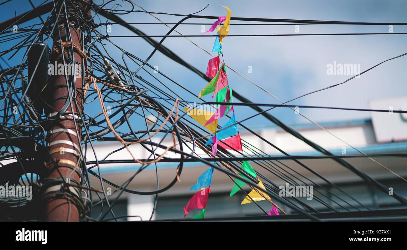 Kathmandu Nepal Wire Electric Tangle Stock Photos & Kathmandu ...