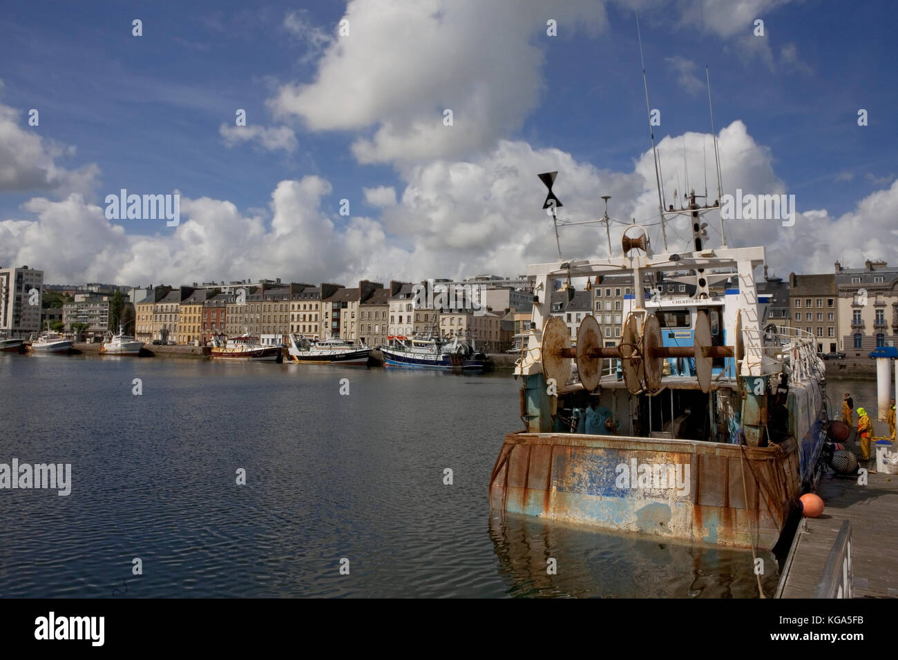 Cherbourg harbour stock photos cherbourg harbour stock images alamy - Chambre du commerce cherbourg ...