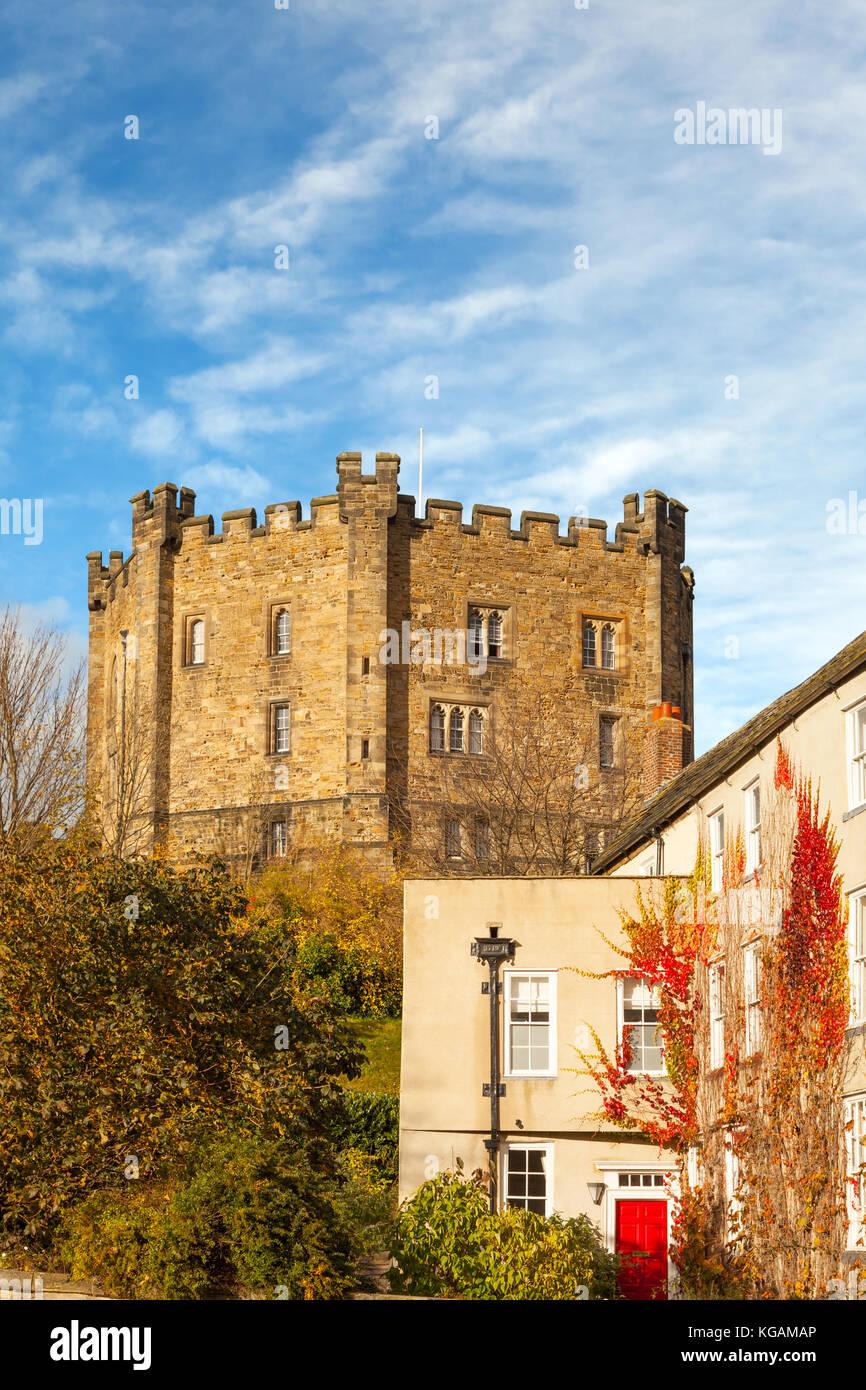 Autumn View Of Durham Castle Keep Durham University College Stock
