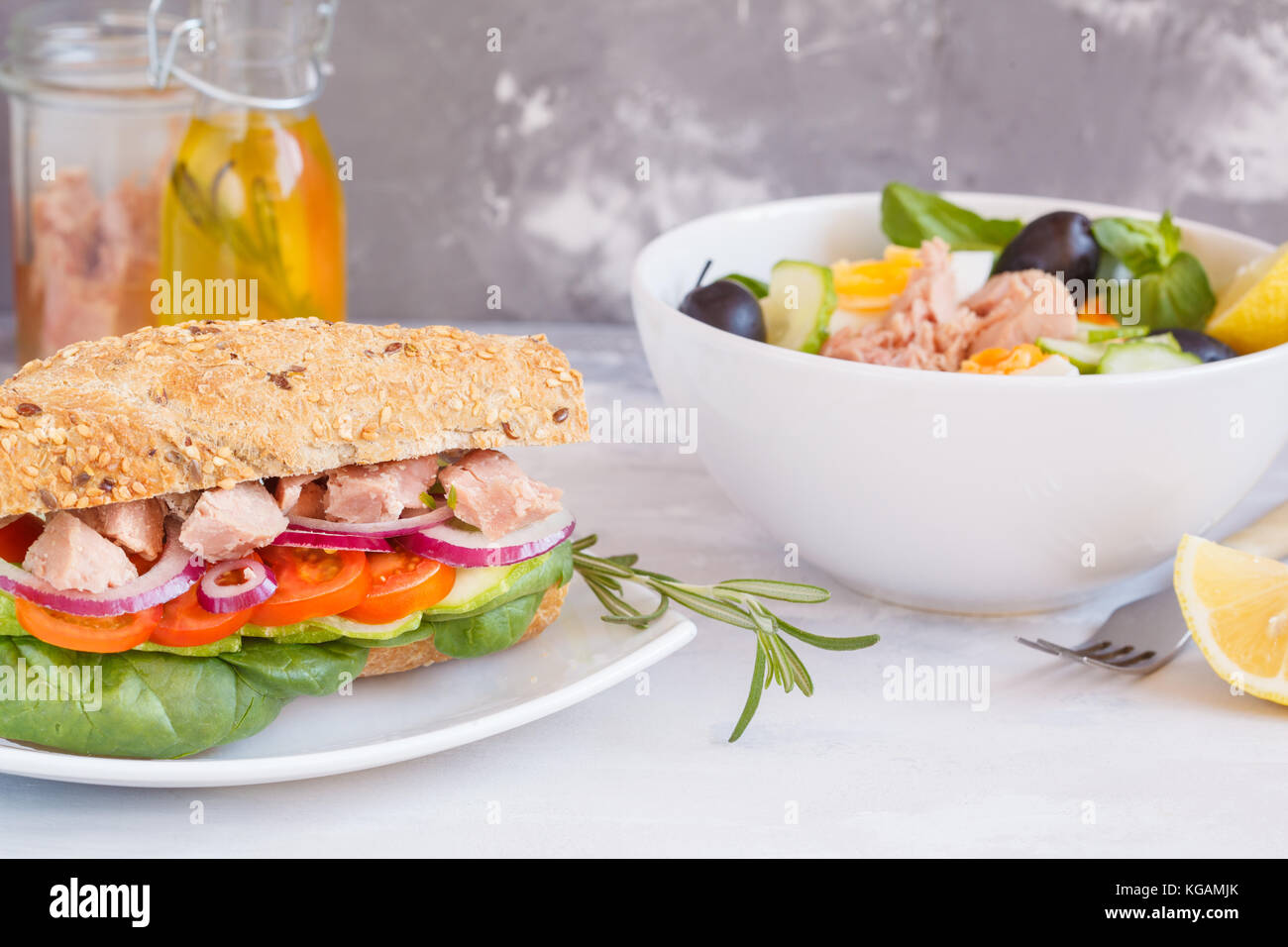 Tuna sandwich cucumber stock photos tuna sandwich for Tuna and egg sandwich