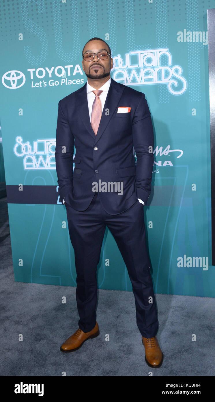 Las Vegas, Nevada, USA. 6th Nov, 2017. Rapper Method Man walks the ...