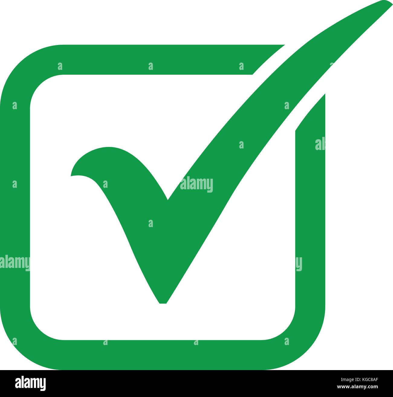 Green check mark icon in a box tick symbol in green color vector green check mark icon in a box tick symbol in green color vector illustration biocorpaavc Image collections