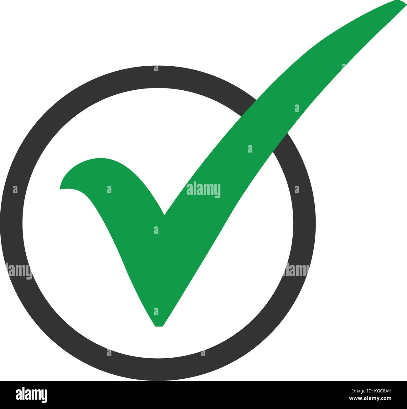 Green check mark icon in a circle tick symbol in green color green check mark icon in a circle tick symbol in green color vector illustration biocorpaavc Image collections