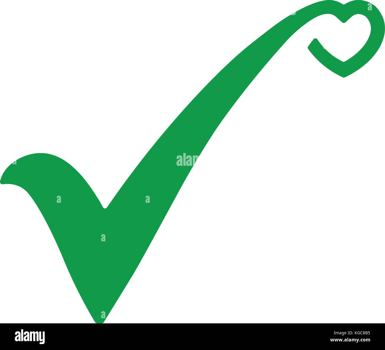 Green check mark icon tick symbol in green color with stylized green check mark icon tick symbol in green color with stylized heart vector illustration biocorpaavc Image collections