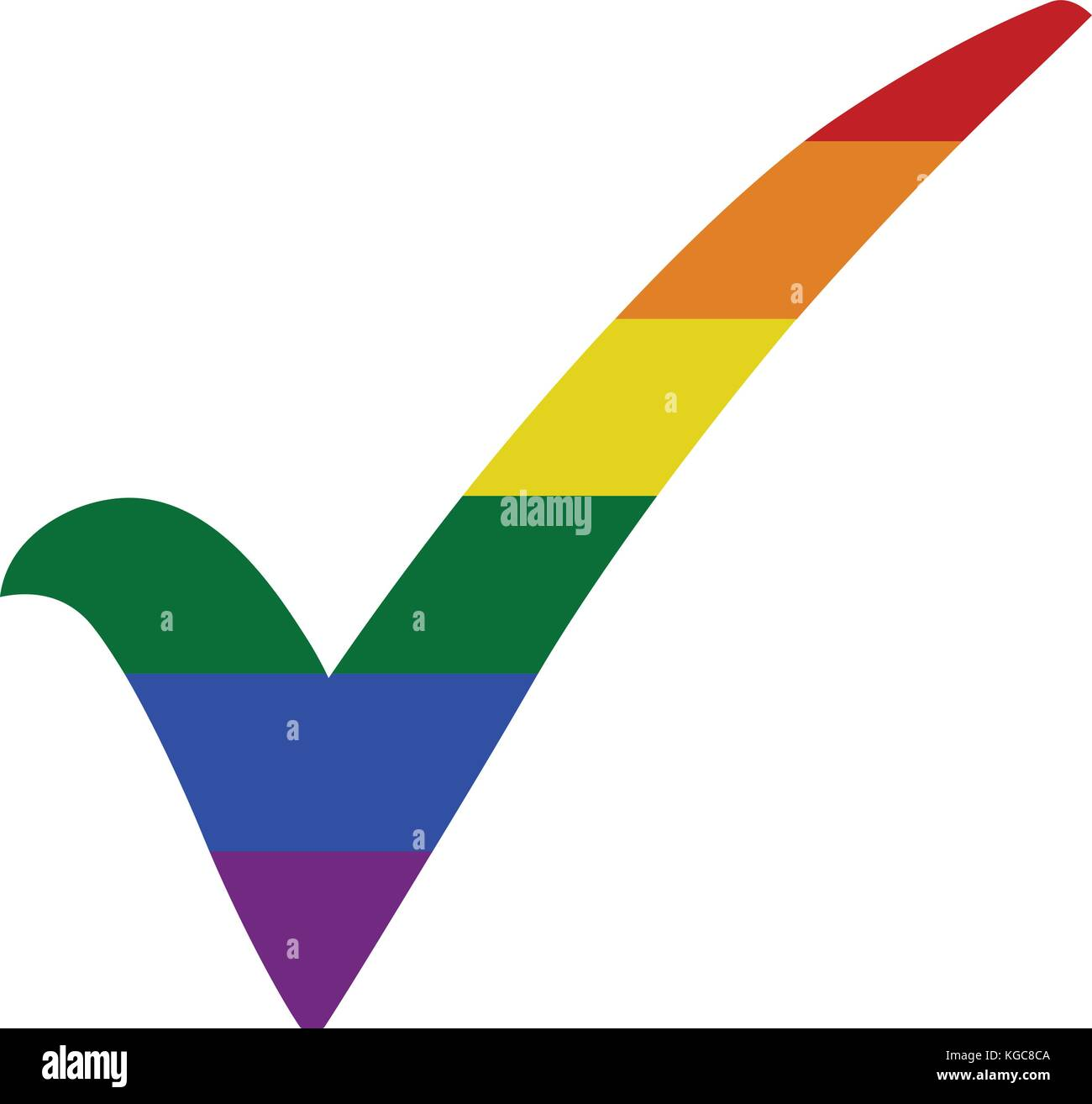Lgbt vector vectors stock photos lgbt vector vectors stock images colorful check mark icon tick symbol in rainbow colors vector illustration stock buycottarizona Images