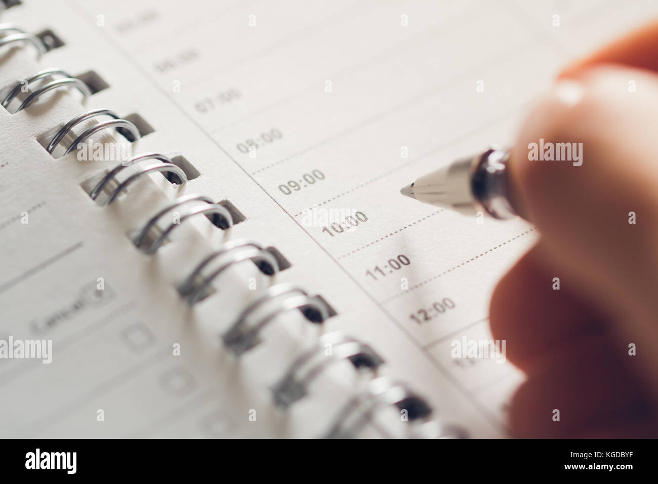 man prepares to make a schedule for the day empty schedule sheet