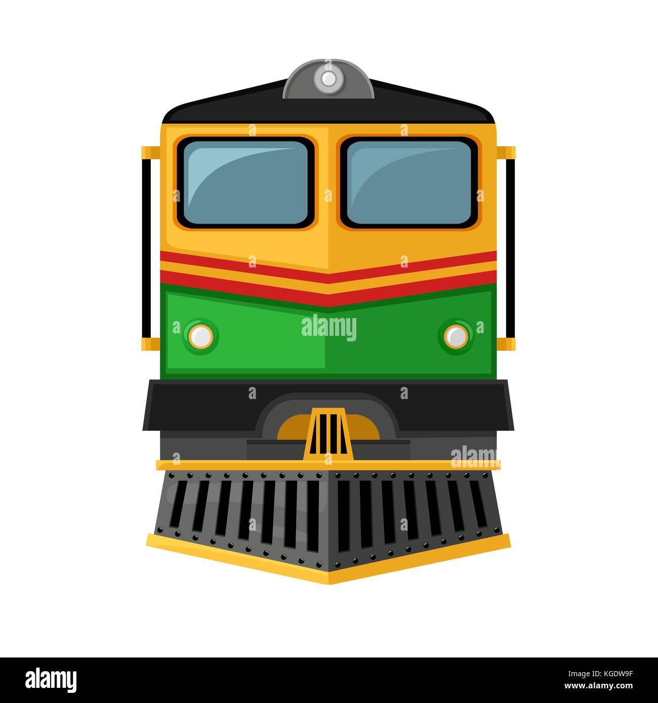 Railway Train Illustration Side View Stock Photos ...