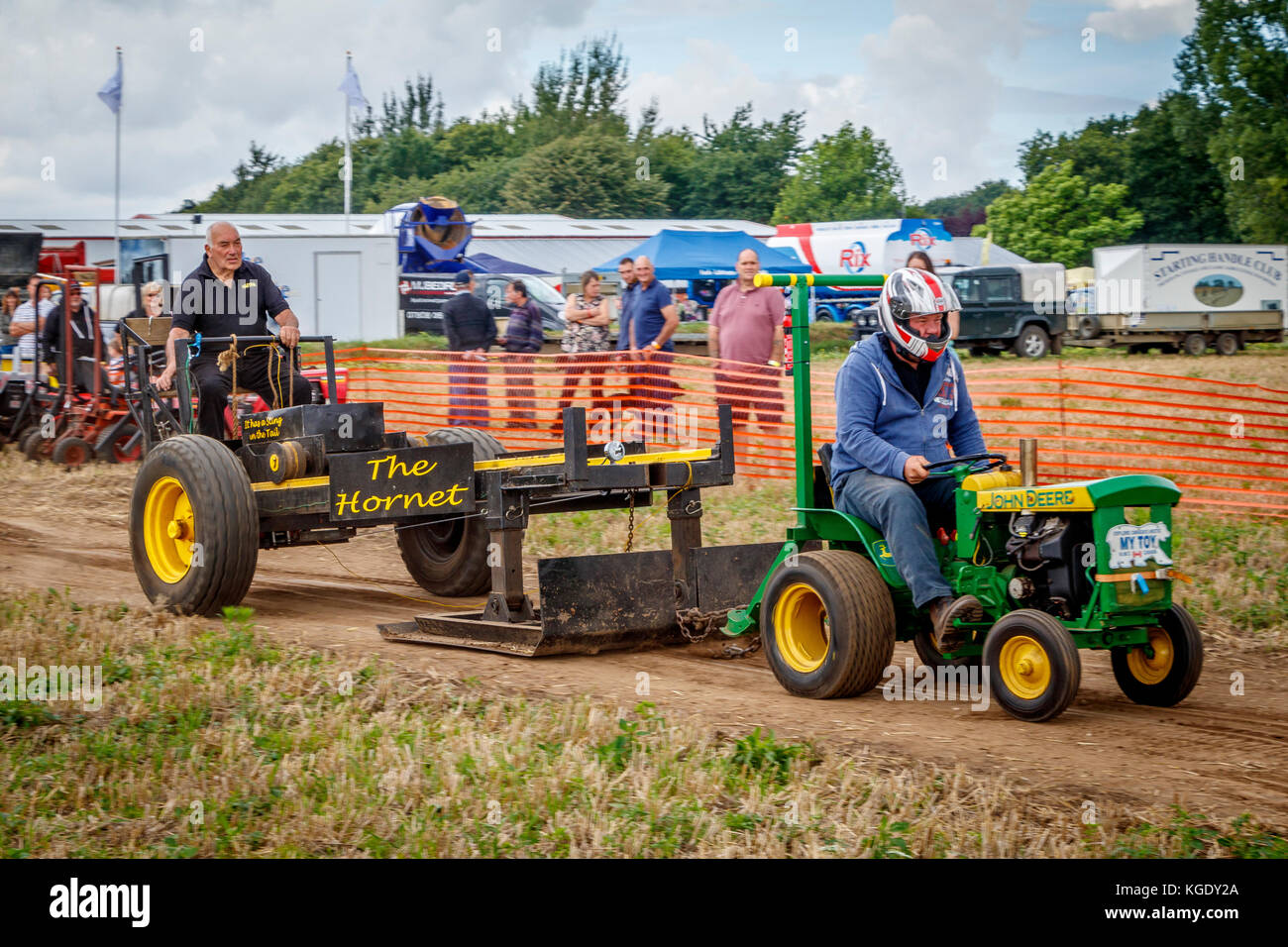 Tractor Pulling Train : Starting handle stock photos