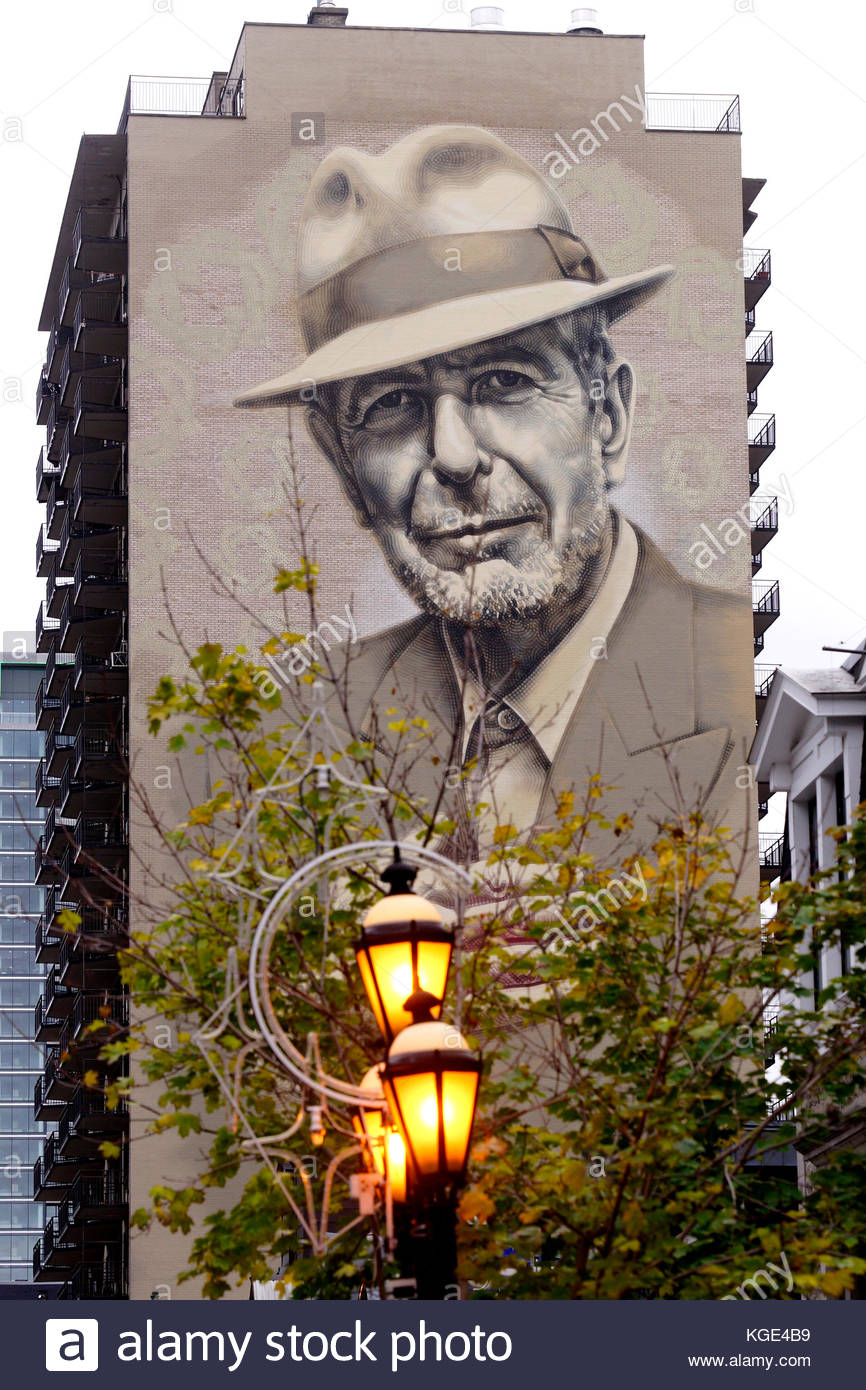 Montreal city and residential stock photos montreal city for Mural leonard cohen
