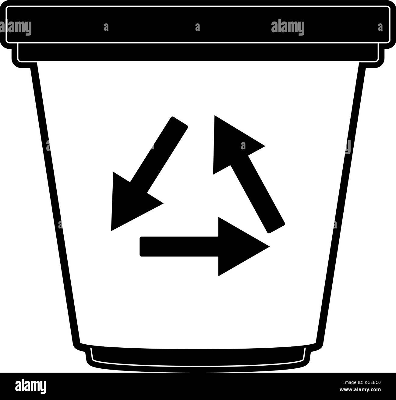 Recycle symbol black stock photos recycle symbol black stock recycle can isolated stock image biocorpaavc
