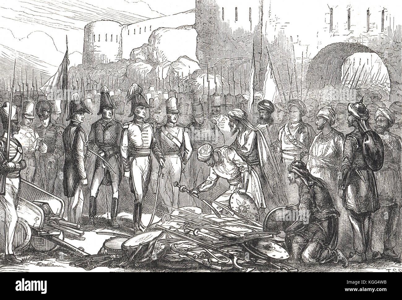Surrender of Asirgarh (Asseerghur) fort, 9 April 1819