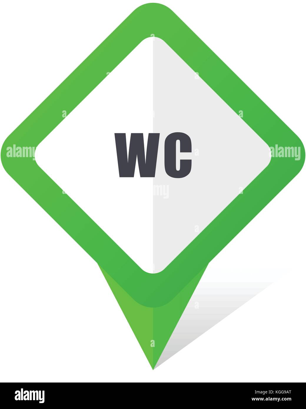 Toilet green square pointer web and mobile phone vector icon in eps 10 on  white background. Toilet Vector Vectors Stock Photos   Toilet Vector Vectors Stock