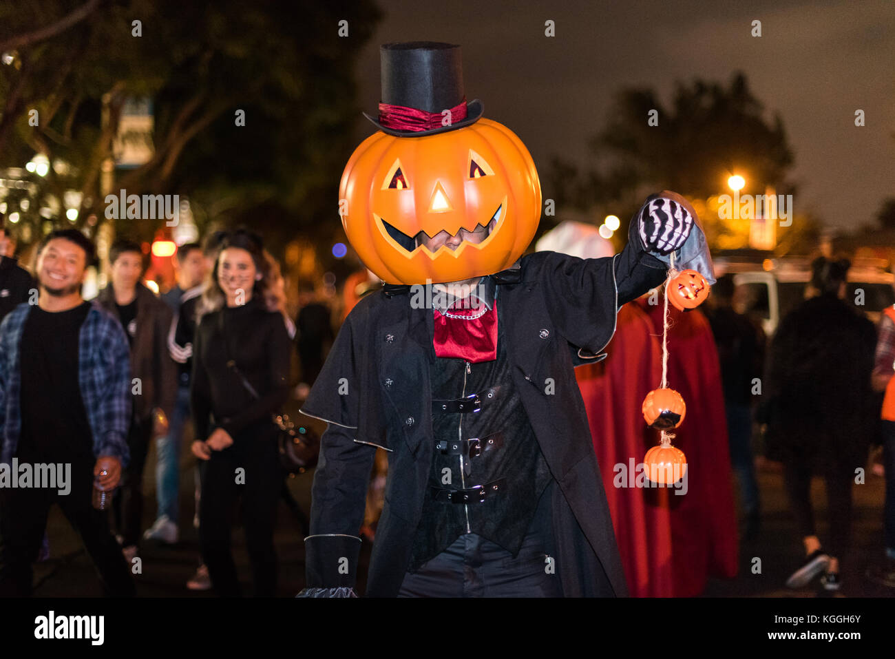 los angeles - october 31: halloween parade in west hollywood