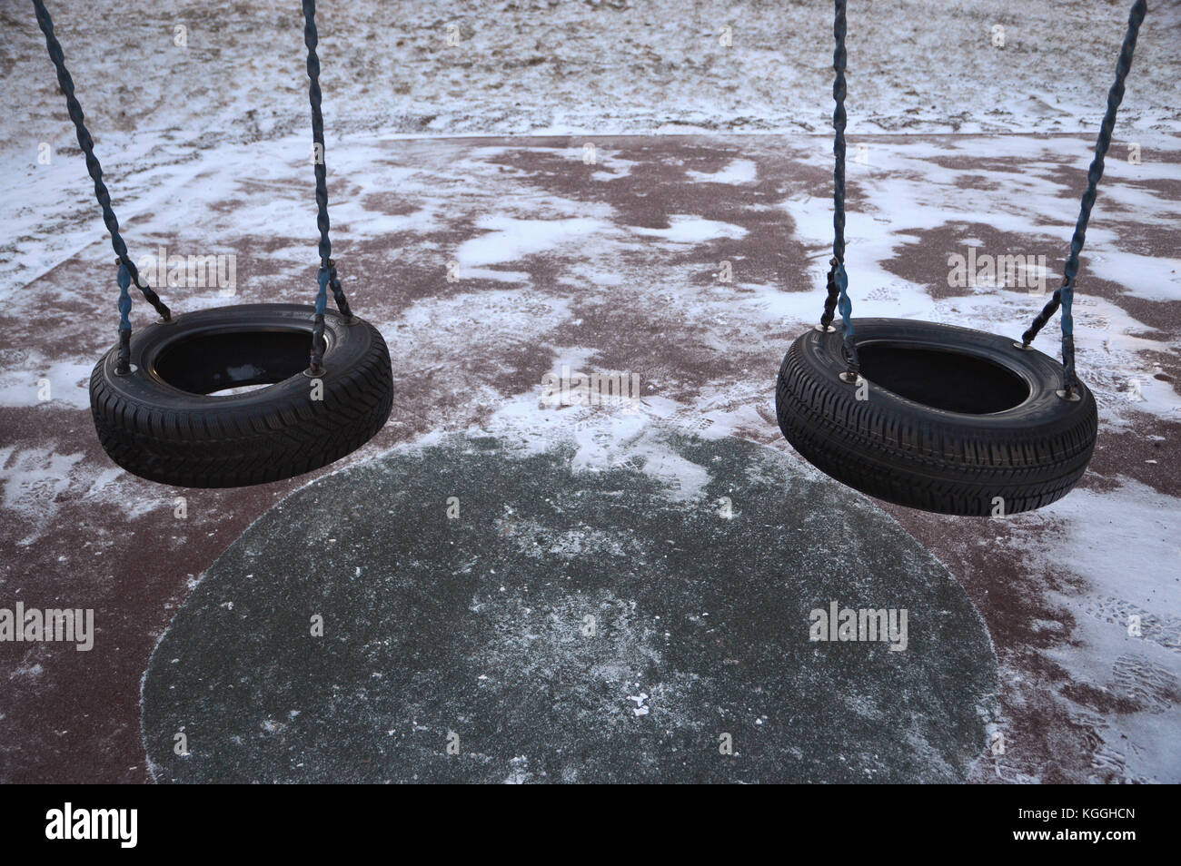 A Tire Swing Set On A Playground Stock Photo 165092725 Alamy