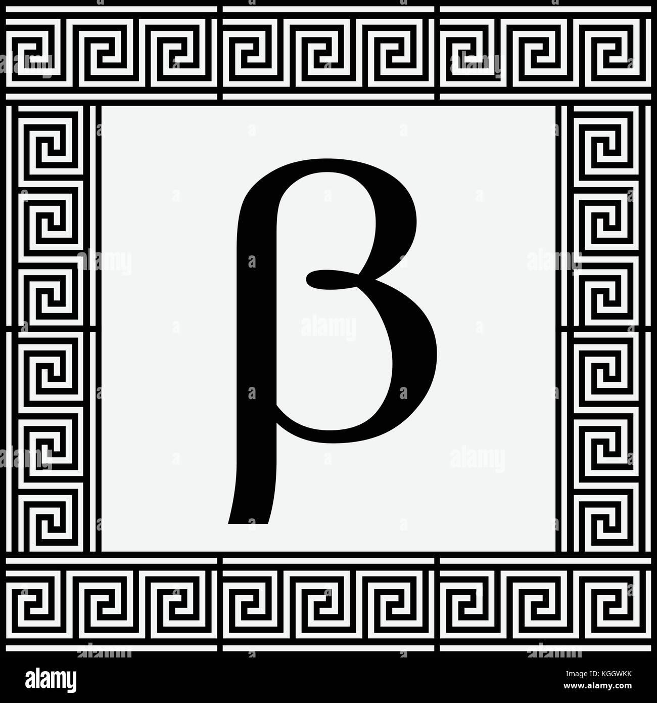 Beta Greek Letter