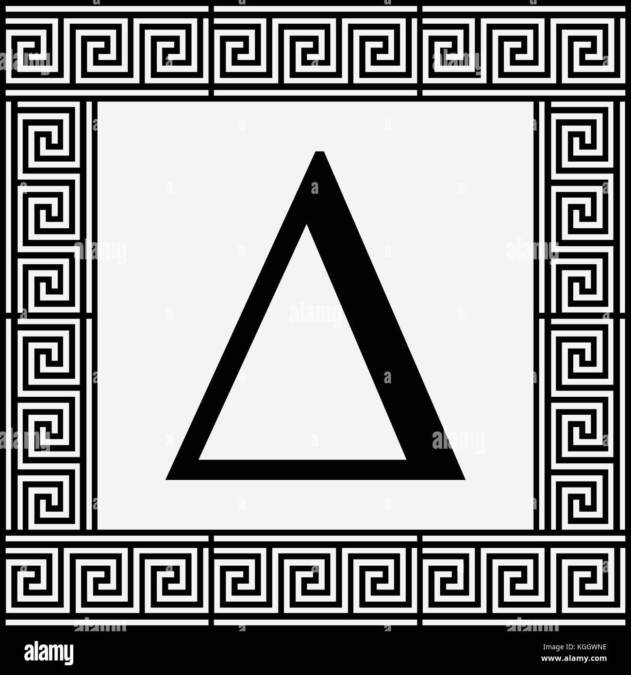 Delta greek letter icon delta symbol in ancient greek frame delta greek letter icon delta symbol in ancient greek frame vector illustration buycottarizona