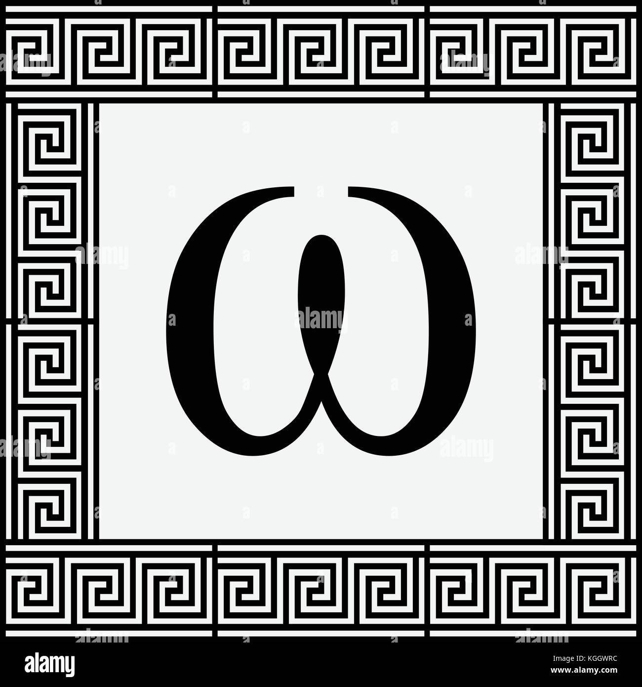 Omega greek letter icon omega symbol in ancient greek frame omega greek letter icon omega symbol in ancient greek frame vector illustration biocorpaavc Gallery