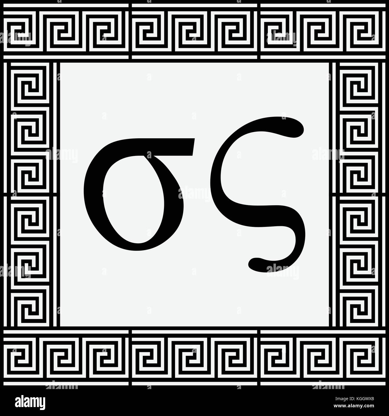 Sigma symbol stock photos sigma symbol stock images alamy sigma greek small letters icon sigma symbols in ancient greek frame vector illustration biocorpaavc Images