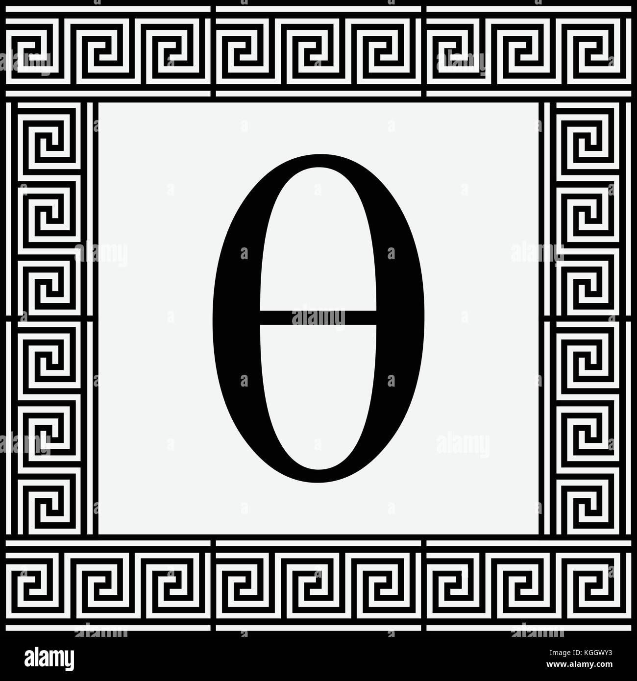 Theta greek letter icon theta symbol in ancient greek frame theta greek letter icon theta symbol in ancient greek frame vector illustration biocorpaavc Image collections
